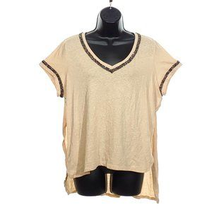 GUESS Oversized Top High Low T-Shirt Sparkle